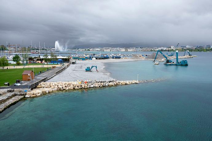 Agrandissement du port de la Nautique