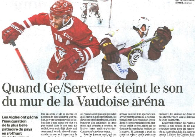 inauguration patinoire vaudoise arena