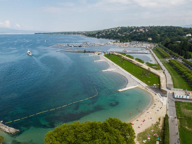 Le bouquet de chantier de la plage des Eaux-Vives et son inauguration // 21.06.2019