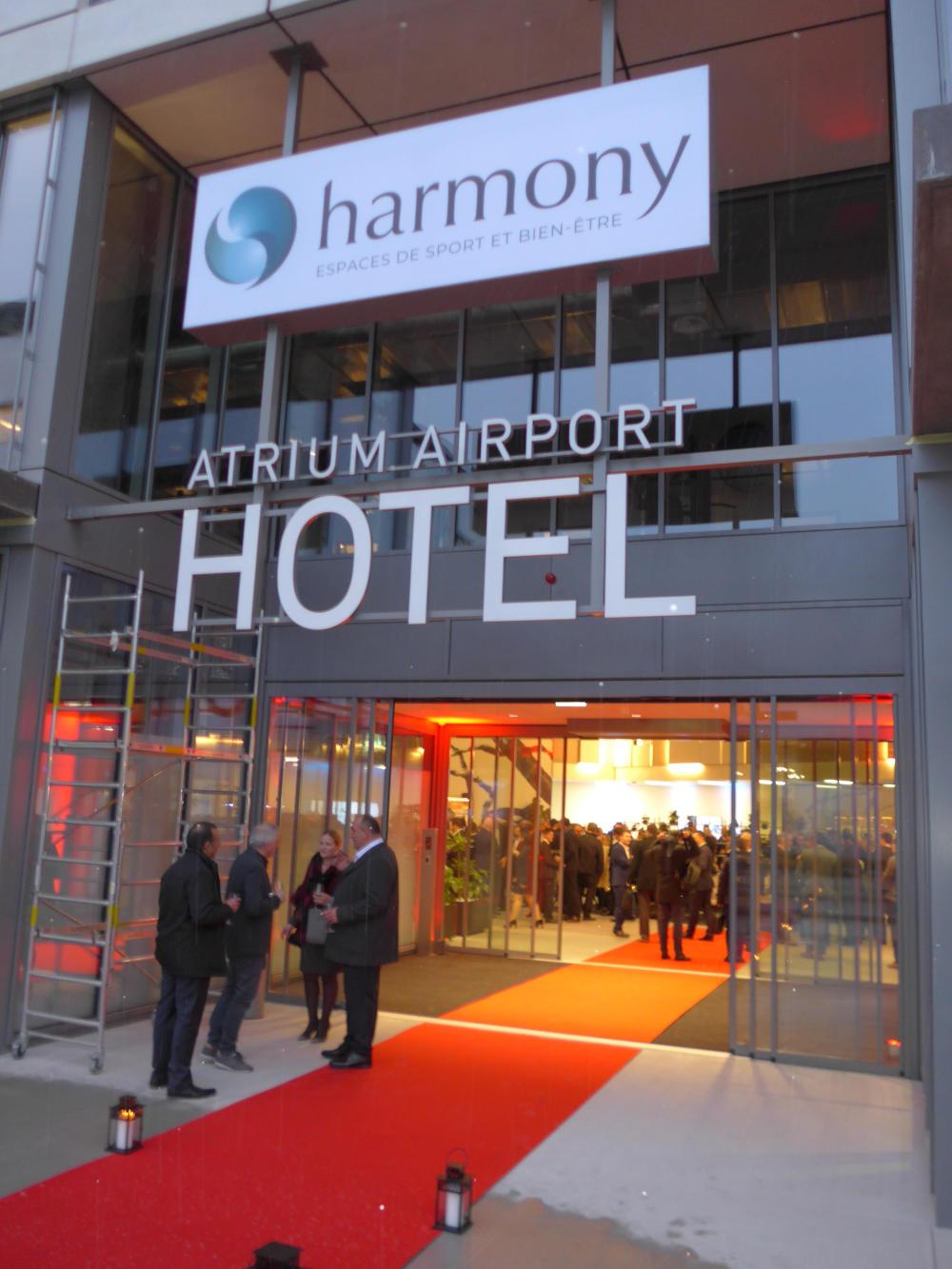 inauguration atrium airport hotel