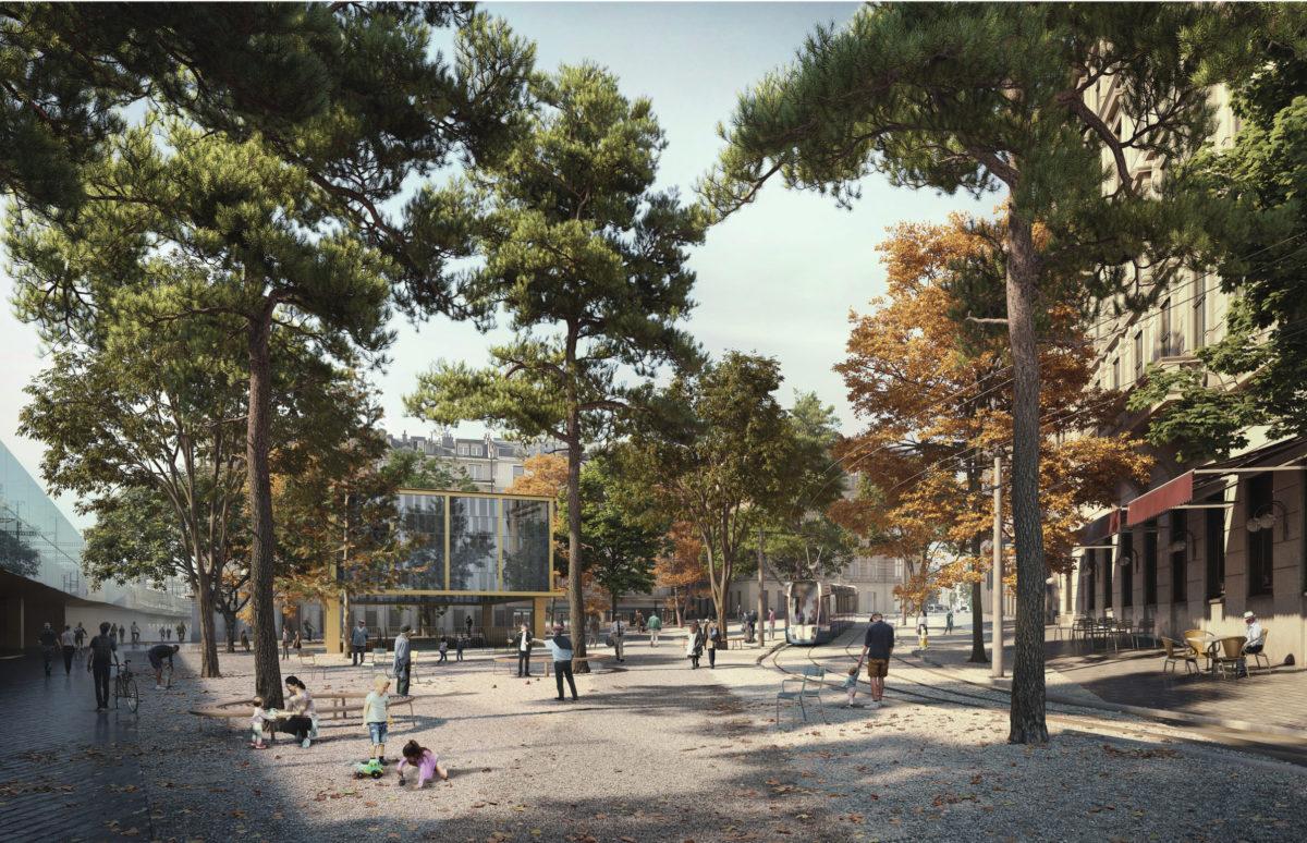 Espaces publics Cornavin – Place de Montbrillant