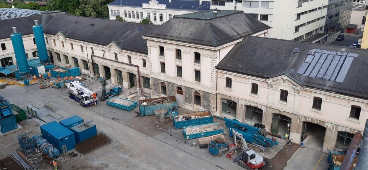Démarrage des travaux spéciaux à l'Hôtel des Archives // 19.07.2021