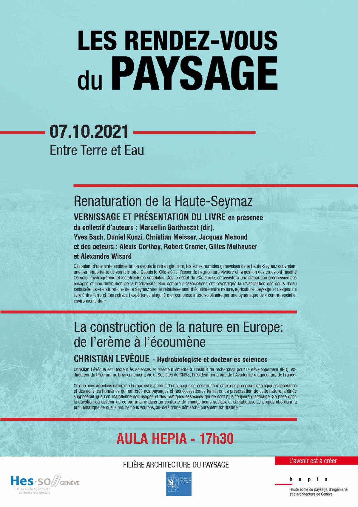 Renaturation de la Haute-Seymaz, Vernissage et présentation du livre-07/10/2021